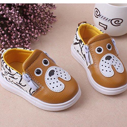 Ouneed® Krabbelschuhe , 12-36 Monate Weibliche Kinder Schuhe Prinzessin Kleinkind Schuhe Tendon weiche Unterseite Gelb
