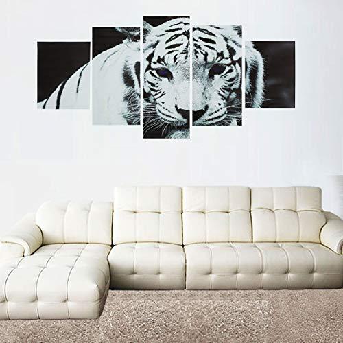 ChaRLes 5 Stücke/Set Moderne Kunst Öl Leinwand Malerei Druck Tiger Wallpaper Wandaufkleber Home Decorations Tiger Wallpaper Set