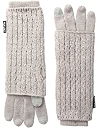 Muk Luks Women's You Are So Beautiful Three-In-One Gloves-Wavy Cable