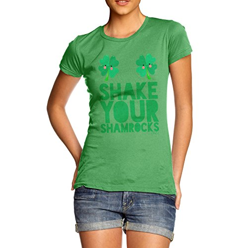 TWISTED ENVY Damen T-Shirt Shake Your Shamrocks Print Grün
