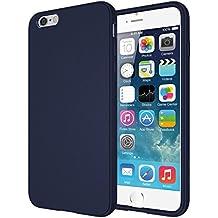 "Diztronic TPU completa Mate Soft Touch flexible para Apple iPhone 6 Plus & 6S Plus (5.5"") - Retail Packaging - Azul Marino"