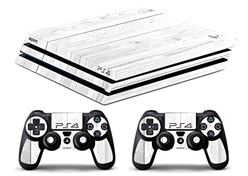 Skin Ps4 PRO - LEGNO BIANCO - limited edition DECAL COVER ADESIVA Playstation 4 Slim SONY BUNDLE - VINILE LUCIDO