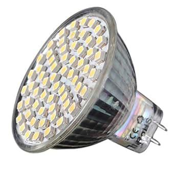 mr16 gu5 3 3528smd 60 led blanc 220v 300lm ampoule spot bulb lampe spotlight. Black Bedroom Furniture Sets. Home Design Ideas