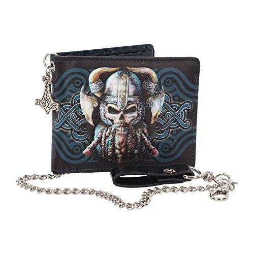 NN Geldbörse Portemonnaie Wikinger Thor Gothic Halloween Geld Biker Rocker (Geldbörsen Halloween)