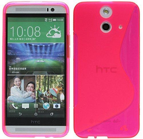HTC One E8 Silikon Hülle Tasche Case Gummi Schutzhülle Zubehör in Pink @ Energmix