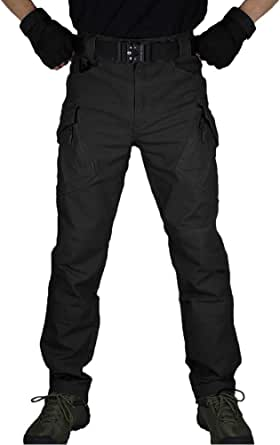 zuoxiangru Men's Tactical Combat Military Trousers, Outdoor Work Cargo Casual Pants Cotton Workwear Trousers