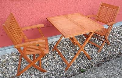 Balkon Set - 3 teilig (1x Tisch 2x Stühle)