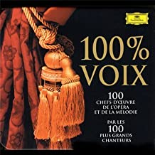 100% Voix : Les 100 chefs-d'oeuvre de l'Opéra (Coffret 5 CD)