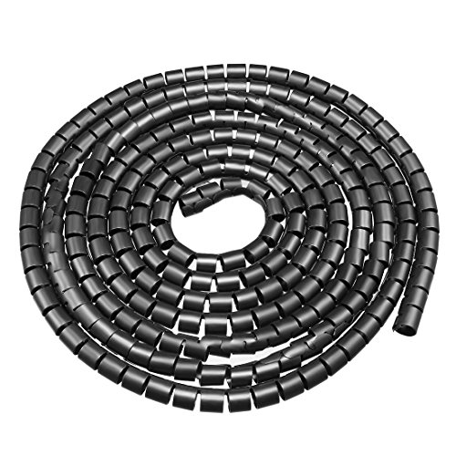 sourcing map 10mm Flexibel Spiral Rohr Kabel Draht Computer Verwalten Schnur Schwarz 3Meter de -