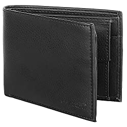 SPAIROW Mens Leather Wallet (RO-0101) Black
