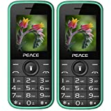 Peace P3 Green+ P3 Green COMBO OF TWO Mobile Phones With 1.8 Inch, Dual Sim, 850 MAh Battery, Wireless FM, Bluetooth, Digitel Camera, Call Recording, MP4, Internet & 1 Year Warranty
