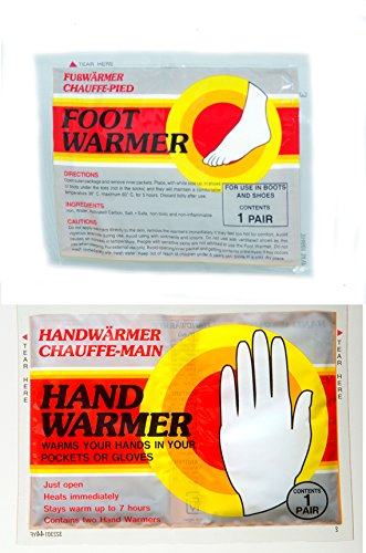 Mycoal hand and foot warmers - 10 PAIRS EACH