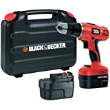Black   Decker EPC148BK 14.4V NiCd Cordless Hammer Drill (2 Batteries and Kitbox)