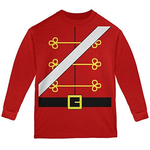 Weihnachten Spielzeug Soldat Nussknacker Kostüm Jugend Langarm T-Shirt rot YMD