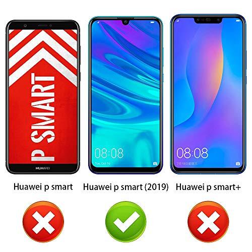 ANEWSIR Verre Trempé pour Huawei P Smart 2019/Huawei P Smart Plus 2019, Protection D'écran, Film Protection 9H Dureté, Installation Facile, sans Bulles, Anti Rayures pour P Smart 2019 - [2 Pièces]