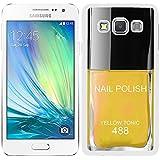 """Funda carcasa para Samsung Galaxy Ace 4 diseño pintauñas estamalte de uñasamarillo """"Yellow tonic"""" 488 color borde blanco"""