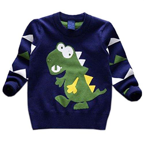 Tkria Unisex Baby Jungen Kids Verdickte Pullover Dinosaurier-Cartoon-Bilder Langarm Sweatshirt Sweatjacke (Christmas Kostüme A Story)