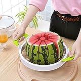 TANG SHI Watermelon Slicer, Premium Große Edelstahl Slicer Watermelon Knife & Fruit Slicer Schnellste Cutter für Melonen, Wassermelone, Ananas und Mehr Einfach 12 Perfekte Scheiben zu Bekommen