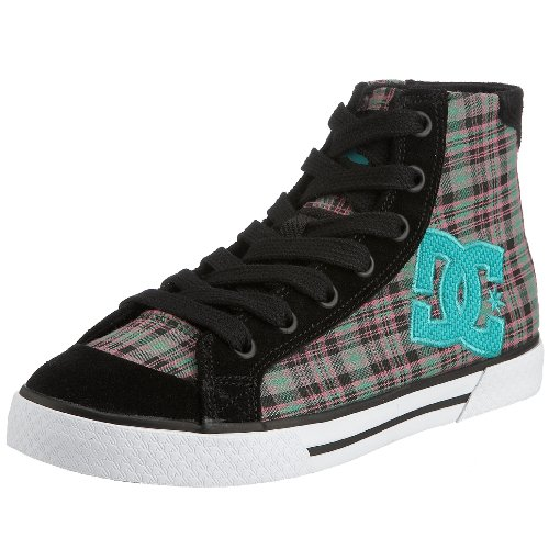 DC Skateboard Shoes WOMENS CHELSEA MID Blk Pink Size 5 (Lakai Womens Schuhe)