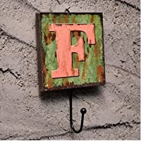 Wall Hook Decorative Vintage Coats Creative Key Holder Door Hanger Chic Unique Rack F alphabet letter