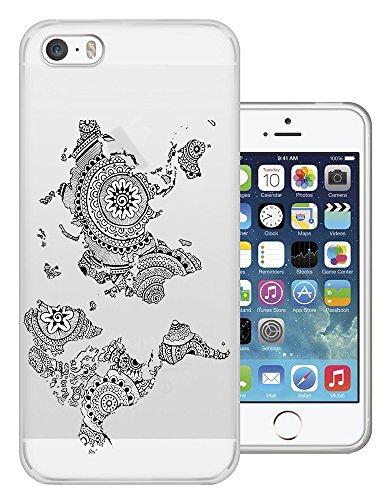 5c Map World Iphone-hülle (C0370 - Aztec Design Cool Fun World Map Design iphone 5 5S Fashion Trend Silikon Hülle Schutzhülle Schutzcase Gel Rubber Silicone Hülle)