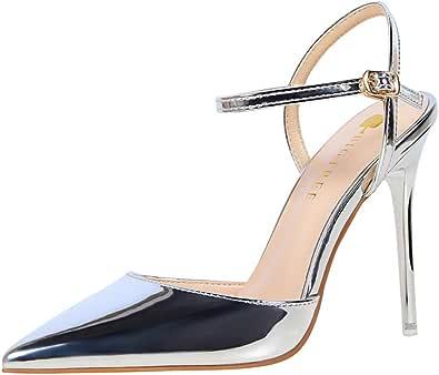Moquite Donna 2019 Nuovo Sexy Moda Scarpe col Tacco,10.5cm Tacco a Spillo Sandali,Primavera ed Estate Femminile con Tacchi Alti,Dimensione 34-40 EU