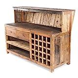 Design BARSCHRANK WASTEWOOD | 150x110x55 cm, Recyclingholz | Holzschrank