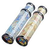 forepin 2pcs Kaleidoskop Polygonales Spiegelspielzeug Lernspielzeug Kinder Dekompression Spielzeug Drehbar für Kindergeburtstag, Kinderparty