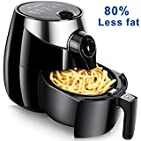 Aobosi Air Fryer Less Fat 80% Oil Free Frying with Detachable Dishwasher Safe