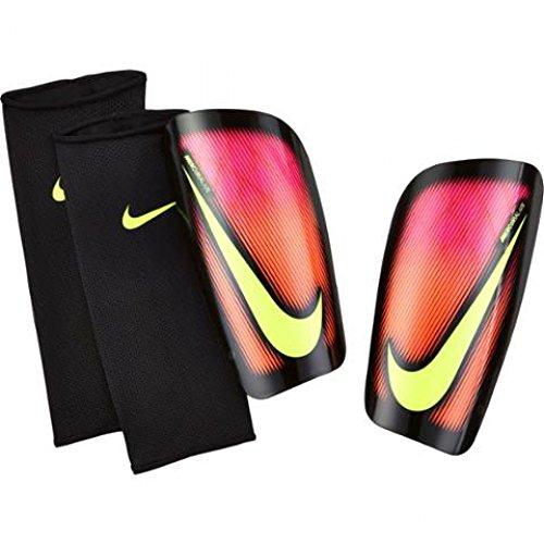 Nike Mercurial Lite Protège-tibias, unisexe adulte L multicolore - rose/noir (Pink Blast / Negro / Volt)