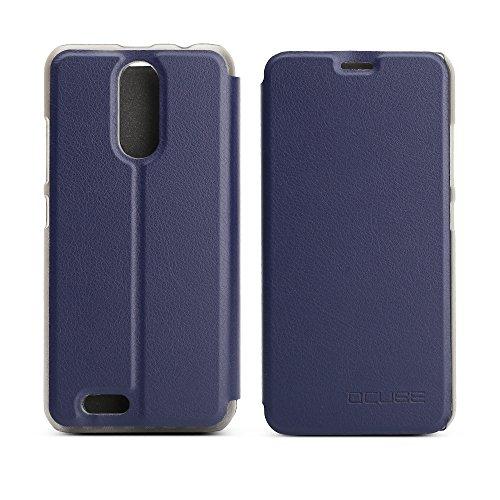 Handyhülle für Oukitel C8 95street Schutzhülle Book Case für Oukitel C8, Hülle Klapphülle Tasche im Retro Design mit Praktischer Aufstellfunktion - Etui Blau