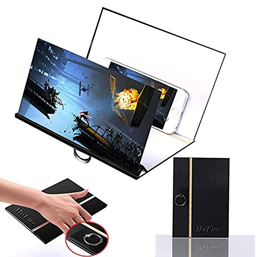 XYEQZ Mobile Bildschirmlupe 3D HD-Filmvideoverstärker mit klappbarem Ständer für alle Smartphones