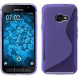 PhoneNatic Case für Samsung Galaxy Xcover 4 Hülle Silikon lila, S-Style + 2 Schutzfolien
