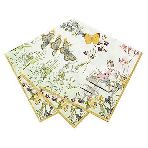 Talking Tables TSFAIRY-NAPKIN Truly Fairy Serviette de table Plastique Multicolore 1,5 x 0,015 x 20 cm