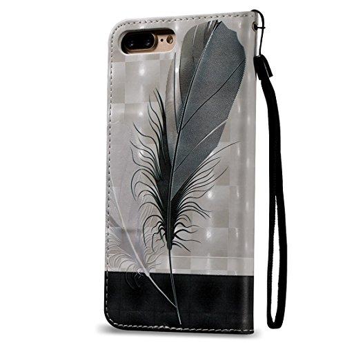 Hülle für iPhone 7 plus , Schutzhülle Für iPhone 7 Plus 3D Blume Plüsch Stoff Abdeckung PC Schutzhülle mit Diamant verkrustet Bowknot Kette Anhänger ,hülle für iPhone 7 plus , case for iphone 7 plus ( Ip7p0621c