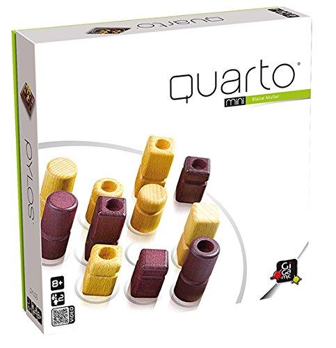 Gigamic QTM Quarto Mini - Juego de mesa de estrategia con piezas de ma