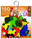 150 gommettes autocollantes : Les animaux de la ferme (avec support)