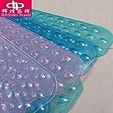 Extra lange Badewanne, Whirlpool, Dusche, Badewanne ultra-komfortable Anti-Rutsch-Pad home PVC-Matten , Rot-grün-blau Violett und Weiß gemischt, 40*100