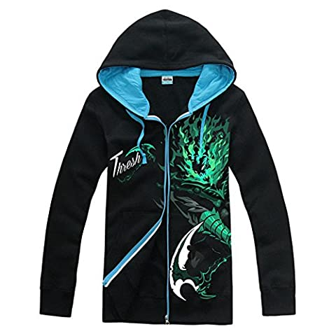 LOL Hoodie Cosplay League Spiel Kostüm Jacke Herren Yasuo Thresh Zip Sweatshirt Kleidung