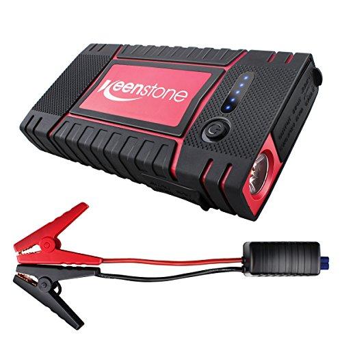 Preisvergleich Produktbild Starthilfe,Keenstone power pack 400A Tragbare Auto Starthilfe Akku 8000mAhJump Starter Akku Ladegerät Autobatterie Auto Anlasser USB Anschlüsse Power BankLED Taschenlampe