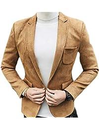 Adelina Giacche da Uomo Giacche Blazer Slim Fit Abbigliamento Eleganti per  Giacche Il Tempo Libero Uomo d673f79234c