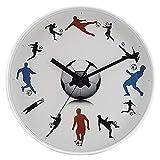 PaiYang Reloj de Pared silencioso con Reloj de Pared de Cuarzo de 30 cm Aula/Sala de Estudio/Sala de niños