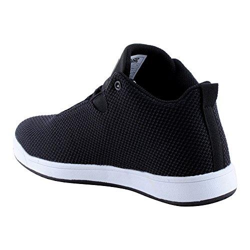 Herren Damen High Top Sneaker Basketball Sport Freizeit Unisex Schuhe Schwarz/Weiss-W