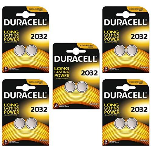 Duracell 2032 CR2032 Lithium-Batterien, 10 Stück -