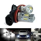 Samsung AR 2x H11H8LED-Glühlampe, Hochleistungsscheinwerfer mit einer 15W LED, Nebelscheinwerfer, Vorder- und Seitenblinker, Tagfahrlicht, DRL-Lampe, Weiß