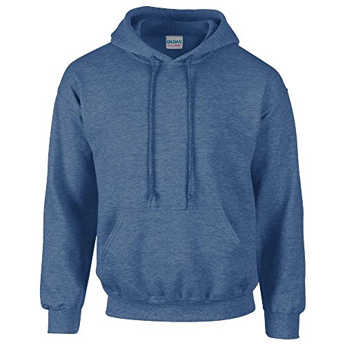 Gildan - Unisex Kapuzenpullover 'Heavy Blend' / Heather Sport Dark Navy, XL