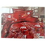 GLACE COTTON SINGLE CARTOON BEDSHEET WITH 1 PILLOW COVERS(ALBUM PACKING) (SANTA)