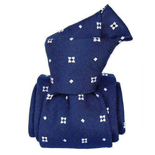 Segni et Disegni - Cravate Segni Disegni Luxe, Faite Main, Bolatte, Bleu