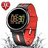 XWEM Fitness-Tracker, Smart Color Screen Armband Herz Rate Blutdruck Blutdruck Sauerstoffüberwachung Bewegung Fernbedienung Kamera Anti-verlorene Uhr
