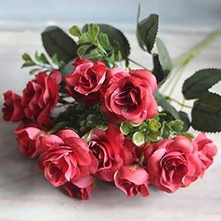 FANG-SDUDIO Muttertag Fünf Herbst Hochzeit Blumen Pflanze Aumix Ding Simulation, Gules